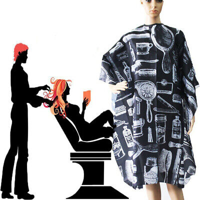 Pro Adult Black Salon Hair Cut Hairdressing Hairdresser Barbers Cape Gown Cloth