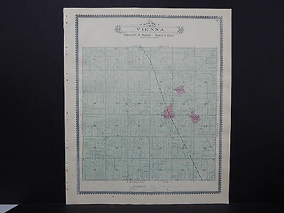 Michigan Map 1889 Genesee County Vienna or Clio Township Double Side J19#58