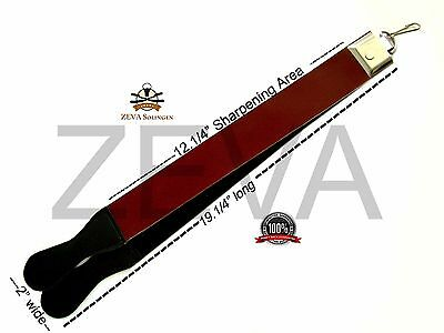 100% Raw Cowhide Leather Sharpening Strop/Strap for Straight Edge Razor USA