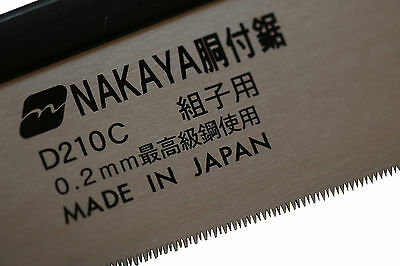 NEW Hand Tools - NAKAYA Japanese Dozuki Saw Extra Fine 210mm - replacement blade