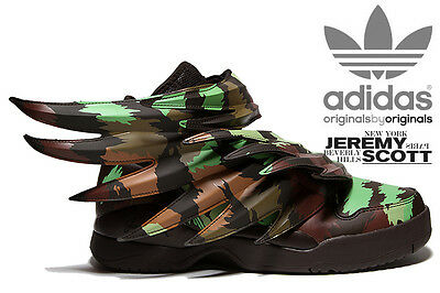 new concept 02dcb 3b53a Adidas Jeremy Scott Wings 3.0 Sauvage Js Camo Shoes Sizes 4-13 100%  Authentic