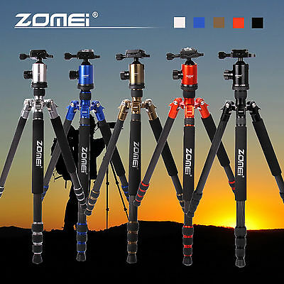 Z818C Professional Carbon Fiber Travel Tripod Monopod&Ball Head for DSLR Camera