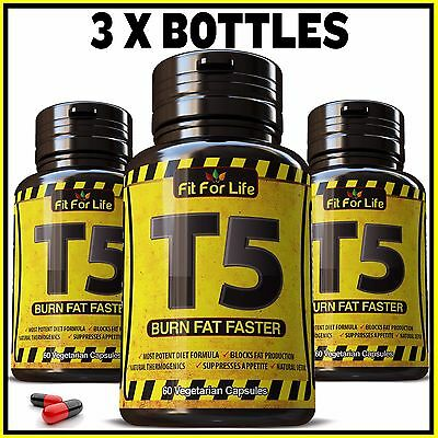 180 X T5 Fat Burner Capsules Strongest Legal Slimming Pills Diet Weight Loss