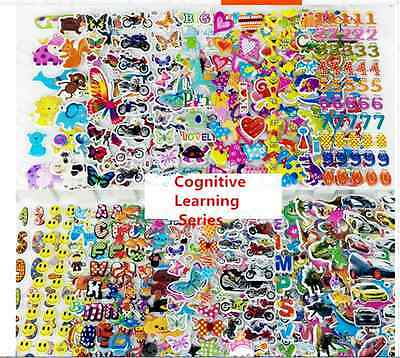 3D Scrapbooking & Paper Crafts cars/wall Stickers lot -kids crafts stickers gift