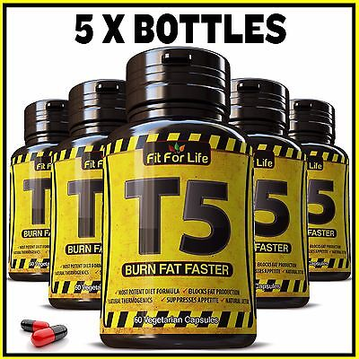 300 X T5 Fat Burner Capsules Strongest Legal Slimming Pills Diet Weight Loss