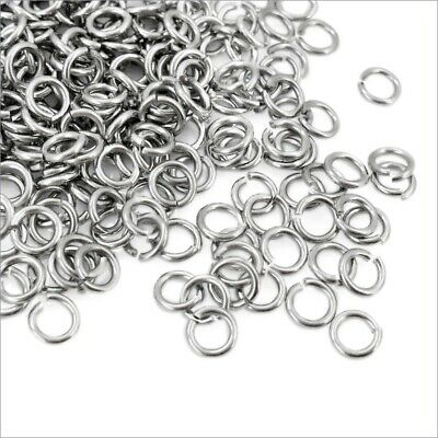 250 x Stainless Steel Flush Cut Jump Rings - 0.9mm WD, 5mm or 6mm OD