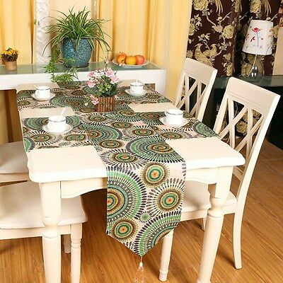New Vintage Table Runner Placemats Embroidery Cloth Wedding Party Home Decor