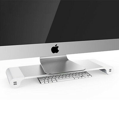 Multifunction Space Bar iMAC & PC Monitor Stand With 4 x USB Ports Organizer