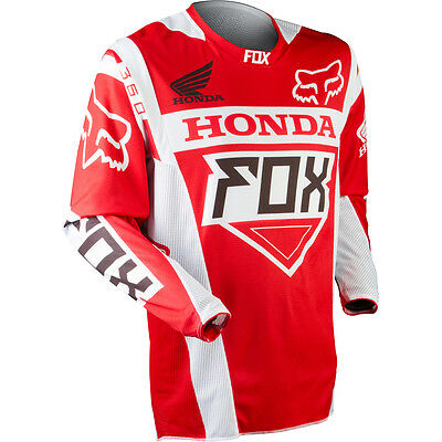 Fox Racing 360 Honda Red Motocross Jersey : Large