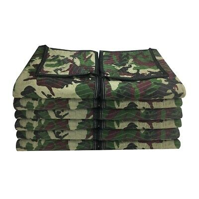 """Camo Moving Blankets (12 Pack) 72"""" x 80"""" Deluxe Camouflage"""