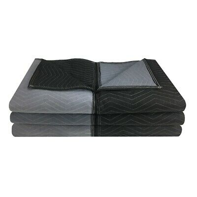 """Moving Blankets - Extra Performance (6 Pack) 72"""" x 80"""" Black/Grey"""