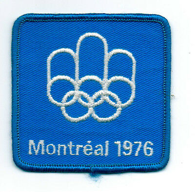 Orig.clothe badge   XXI.Olympic Games MONTREAL 1976  //  OFFICIAL LOGO  !!  RARE