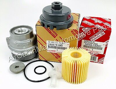 NEW GENUINE TOYOTA Oil Filter + Housing Cap 15620-31060 WITH CAP PLUG AND WRENCH