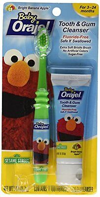 Baby Orajel Tooth & Gum Cleanser Bright Banana Apple 1oz Each