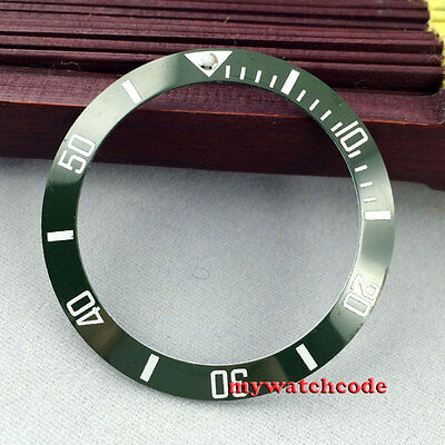 38mm green ceramic bezel insert for 40mm submariner watch by parnis factory