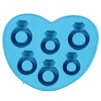 New Drink Bar Party Ice Tray Diamond Love Rings Ice Cube Style Freeze Mould B3