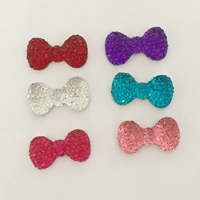 DIY 20pcs BOW Resin FlatBack Appliques/Wedding decoration craft Button C49A*2