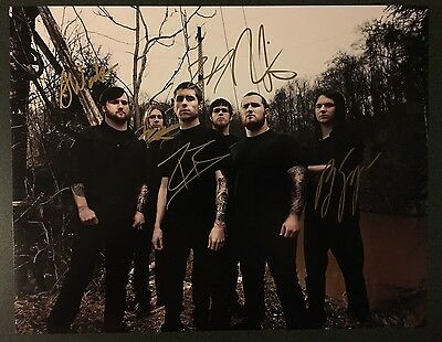 Whitechapel Band Signed 11x14 Photo Autographed Heavy Metal Band Our Endless War