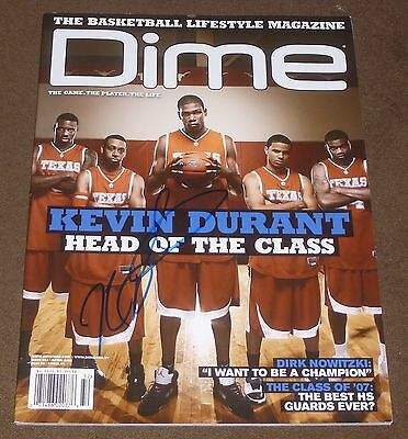 Kevin Durant Signed Dime Magazine April 2007 Texas Longhorns Thunder