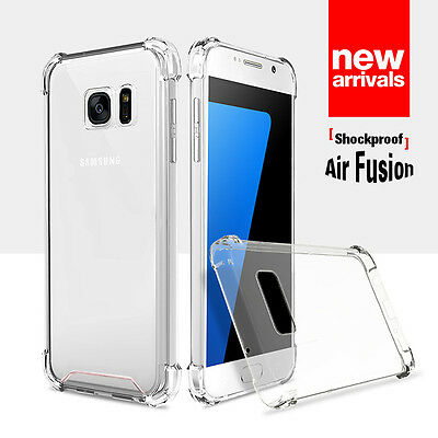 For Samsung Galaxy S7 S7Edge Ultra Hybrid Crystal Clear Gel Case Cover