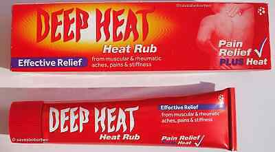Deep Heat Rub.Pain Relief Plus Heat .Original Dual Action 35g. Next Day Delivery