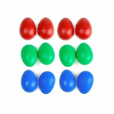 Museya 12pcs Plastic Percussion Musical Egg Shakers for kid3 colours