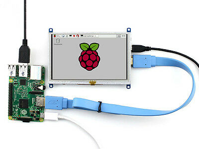 "5""  LCD (B) 800×480 Resistive Touch Screen For Raspberry Pi BB Black Banana Pi"