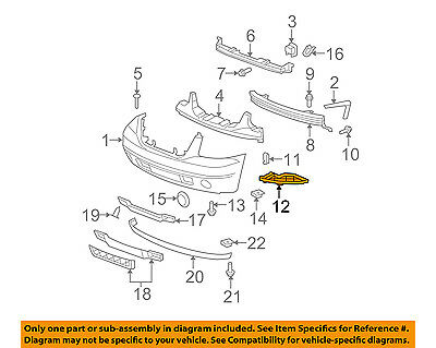 GMC GM OEM 07-14 Yukon XL 1500 Front Bumper-Outer Filler Right 10376176