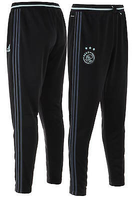 Ajax Amsterdam Adidas Track Pants Hose 2016 17 Black Training Men stretch ankl
