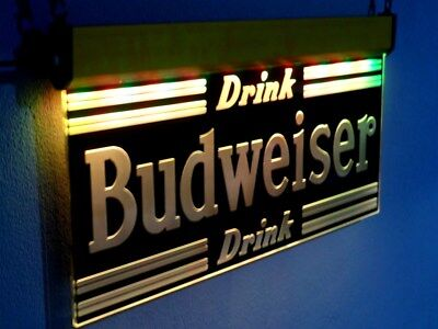 H027 BUDWEISER NEON Signs Led Light Beer Bar Pub Man cave