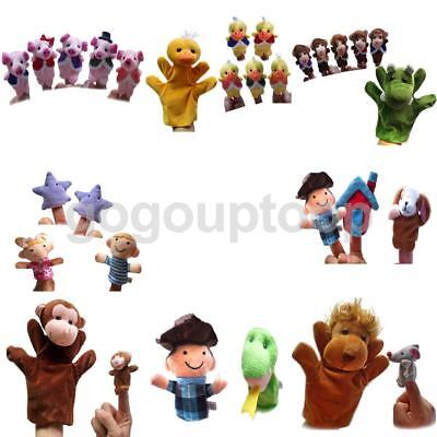 Finger Puppets Sets Hand Plush Soft Toy Nursery Boys Girls Fairy Story Telling
