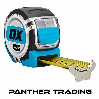 Ox Pro Heavy Duty Extra Tough Metric Only 5M Tape Measure - P028905