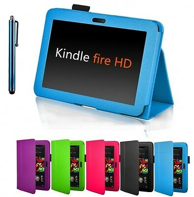 "High Quality Amazon Kindle Fire HD 7"" 2012 Version Leather Smart Stand Cover"
