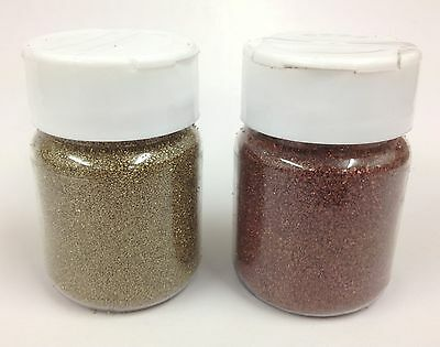 2 x 60ml  Ultra Thick Embossing Powder/Enamel/Crystals  - Gold & Bronze