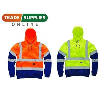 DICKIES HI VIZ VISIBILITY TWO TONE HOODIE | GO/RT Railway| Hoody Sweatshirt Work