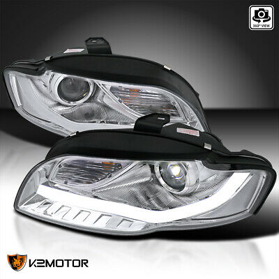 FOR AUDI A Chrome Projector Headlights WBMW Style LED Head - 2006 audi a4 headlights