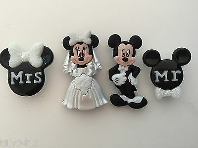 Disney Mickey and Minnie Wedding - DRESS IT UP Novelty Craft Buttons
