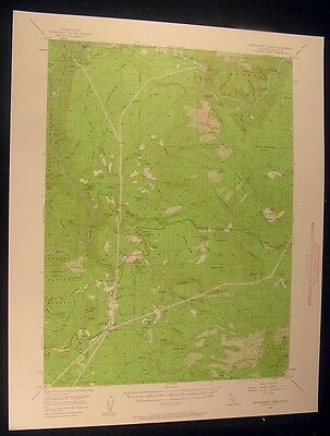 Montgomery Creek California Hillcrest 1958 vintage USGS original Topo chart map