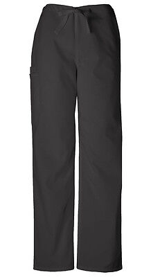 Scrubs Cherokee Workwear Men's Drawstring Cargo Pant Short 4100S BLKW Black