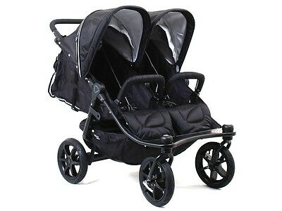 Valco 2016 TriMode Twin-X Duo Double Stroller in Midnight (Black) Brand New!!!