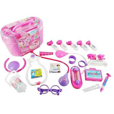Kids Role Toy Girls Boys Children Gift Box Birthday Doctor Kit Medical Play Sets