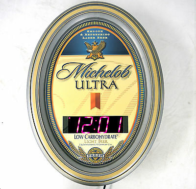 Michelob Ultra Bar Sign and Clock