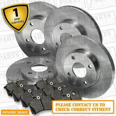 Jeep Patriot 2.4 Front & Rear Brake Pads Discs Set 294mm 262mm 168 01/08- NEW