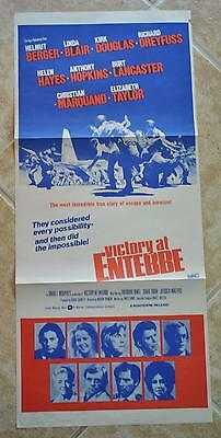 Victory at Entebbe 1976 TV Movie Daybill Poster Helmut Berger Linda Blair