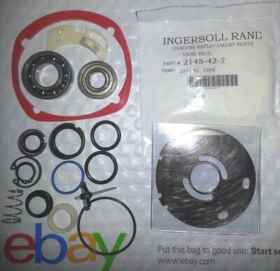 "Ingersoll Rand 2145 Tk2 Tune Up Kit + 2145 11X Wear Plate + 1"" Retaining Ring Kt"
