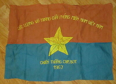 Viet Cong Nlf Vc 1967  Cam Bot Chien Thang-Means Victory/liberate Flag