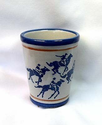Wonderful Vtg Louisville Ky Stoneware Derby Horse Racing Museum Tumbler Cup