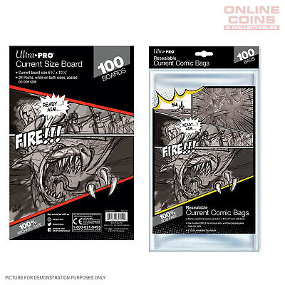 BUNDLE! Ultra Pro - Resealable CURRENT Size Comic Bags & Backing Boards x 100