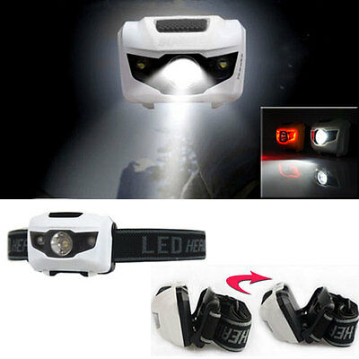 Waterproof Headlamp R3+2 LED Headlight 4-Mode Head Torch Lamp 900Lm Light