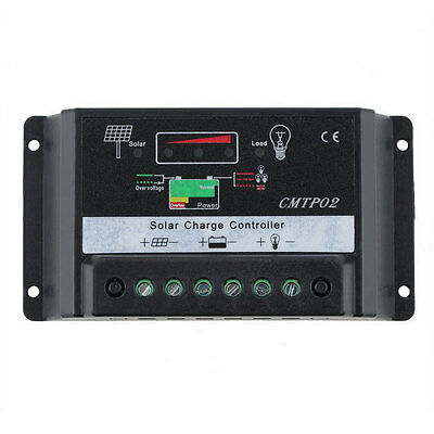 Solar Panel Battery Regulator Charge Controller 10A/20A/30A Auto Switch 12V/24V